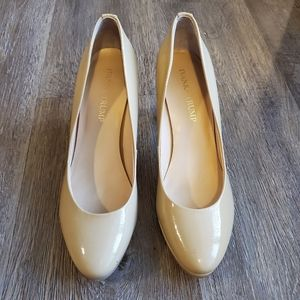 Ivanka Trump Nude Patent Pumps in Size 6.5